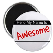 "Hello my name is...Awesome 2.25"" Magnet (10 pack)"
