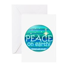 Funny Peace christmas Greeting Cards (Pk of 20)