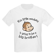 Big Brother to be - Monkey Face Kids Light T-Shirt
