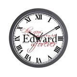 Edward is Forever Wall Clock