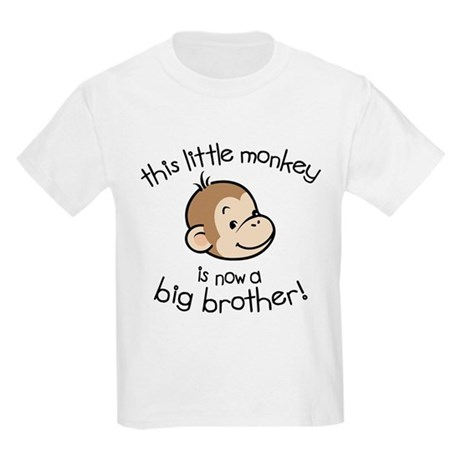 Big Brother - Monkey Face Kids Light T-Shirt