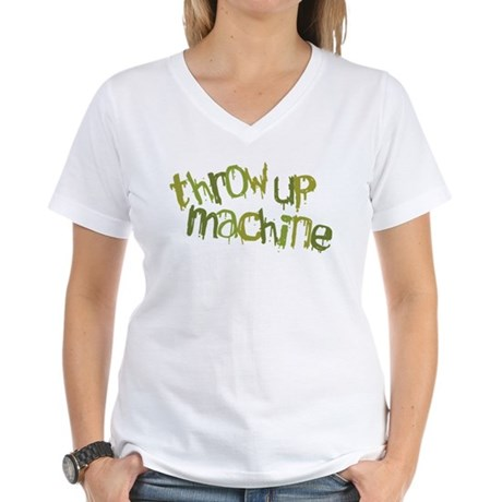 Throw Up Machine Women's V-Neck T-Shirt