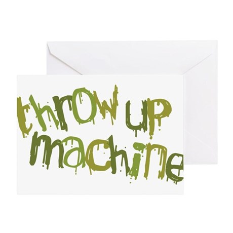 Throw Up Machine Greeting Card
