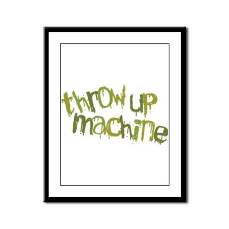 Throw Up Machine Framed Panel Print