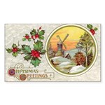 Dutch Christmas Rectangle Sticker 50 pk)