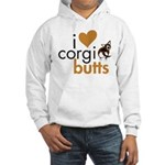 I Heart Corgi Butts - Brindle Cardi Hooded Sweatsh