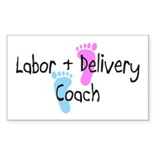 Labor & Delivery Coach Rectangle Decal