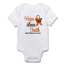 Kidney Cancer HopeLoveFaith Infant Bodysuit