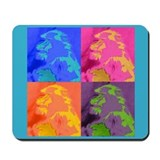 Pop Art Baboon Mousepad