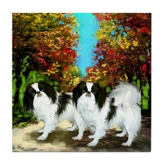 Japanese Chin Country Road Tile Coaster