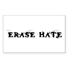 Erase Hate Rectangle Decal