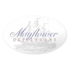 Mayflower Descendant - Oval Decal