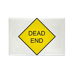 Dead End Sign Rectangle Magnet (10 pack)