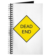 Dead End Sign Journal