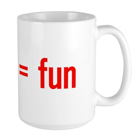Alcohol = Fun Large Mug