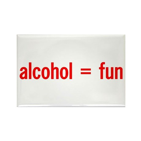 Alcohol = Fun Rectangle Magnet