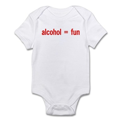 Alcohol = Fun Infant Creeper