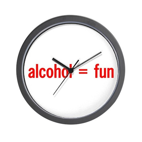 Alcohol = Fun Wall Clock