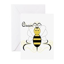 Smiling Bumble Bee Queen Bee Greeting Cards (Pk of