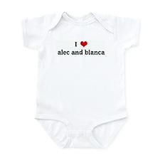 I Love alec and bianca Infant Bodysuit