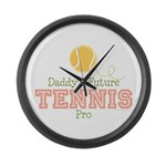 Daddy's Future Tennis Pro Large Wall Clock