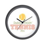 Daddy's Future Tennis Pro Wall Clock