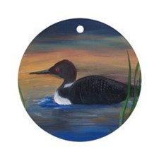 Loon Lake Ornament (Round)