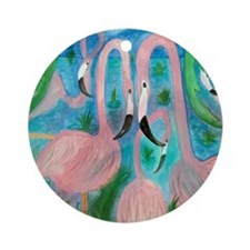Flamingo Party Ornament (Round)