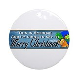 This is America! Merry Christ Ornament (Round)