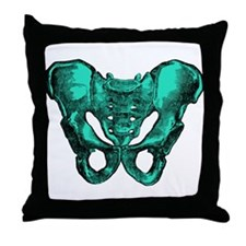Human Anatomy Pelvis Throw Pillow