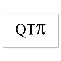QTPi Rectangle Sticker 10 pk)