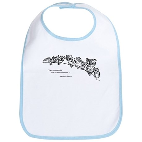 Relaxing Owls Bib
