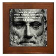 Greek Philosophy: Aristotle Framed Tile