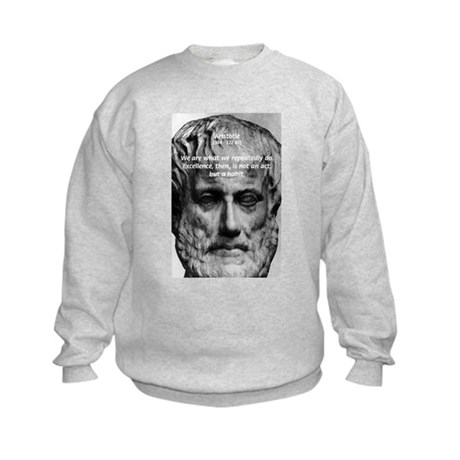 Greek Philosophy: Aristotle Kids Sweatshirt