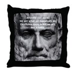 Greek Philosophy: Aristotle Throw Pillow