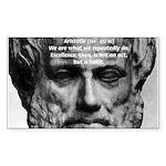Greek Philosophy: Aristotle Rectangle Sticker