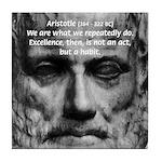 Greek Philosophy: Aristotle Tile Coaster