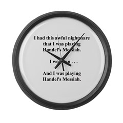 I had this nightmare . . . Large Wall Clock