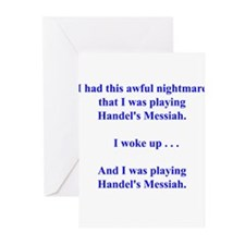 I had this nightmare . . . Greeting Cards (Pk of 1