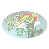 Forks Washington Twilight Oval Sticker (50 pk)