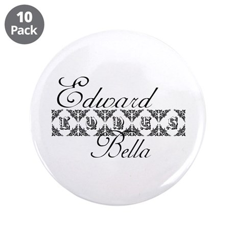 "Edward Loves Bella Twilight 3.5"" Button (10 pack)"