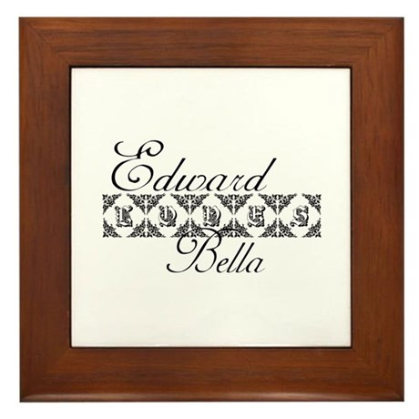 Edward Loves Bella Twilight Framed Tile
