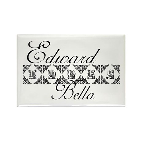 Edward Loves Bella Twilight Rectangle Magnet (10 p