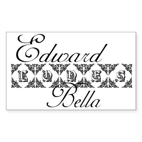 Edward Loves Bella Twilight Rectangle Sticker