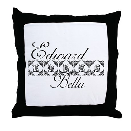 Edward Loves Bella Twilight Throw Pillow