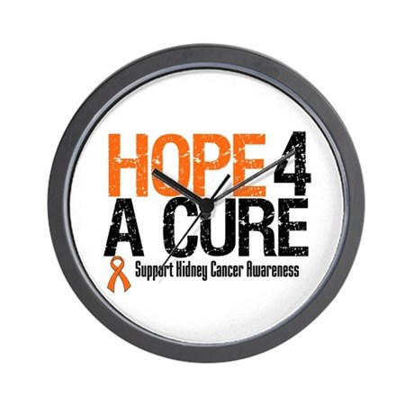Kidney Cancer Hope4aCure Wall Clock