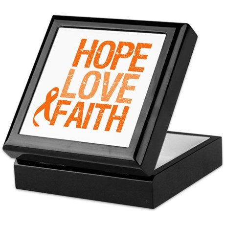 Kidney Cancer HopeLoveFaith Keepsake Box