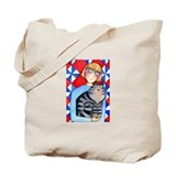 CAT LADY QUILT Shopping Tote or Book Bag