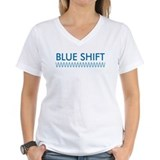 Blue Shift (front) Red Shift Shirt
