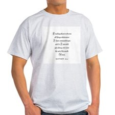 MATTHEW  28:20 Ash Grey T-Shirt